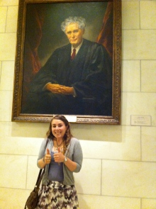 Ellie with Chief Justice Brandeis